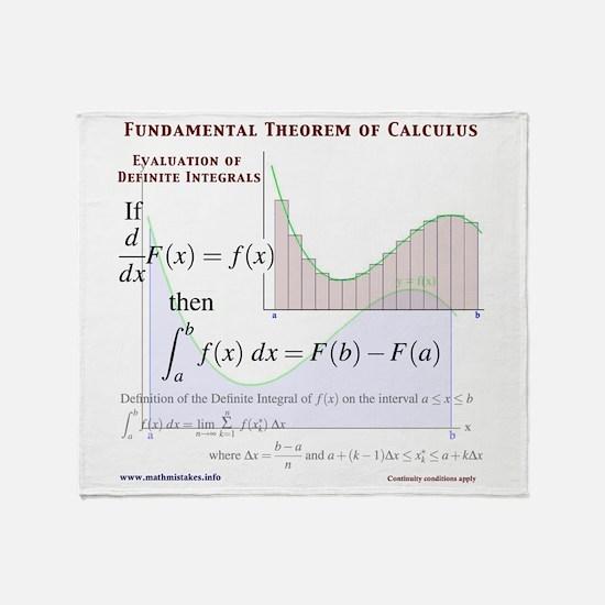 Fundamental Theorem of Calculus Throw Blanket