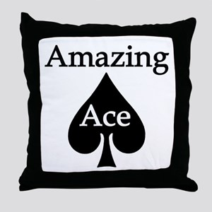 Amazing Ace Throw Pillow