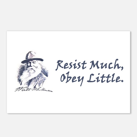 Resist Much Postcards (Package of 8)