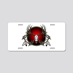 Deer Skulls Aluminum License Plate