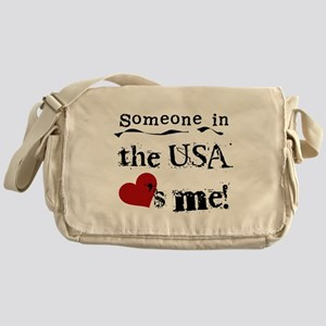 USA Loves Me Messenger Bag