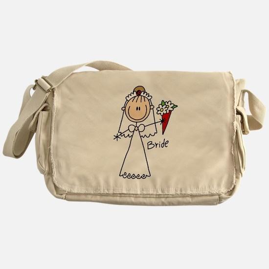 Stick Figure Bride Messenger Bag