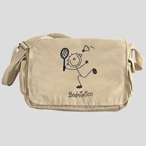 Stick Figure Badminton Messenger Bag