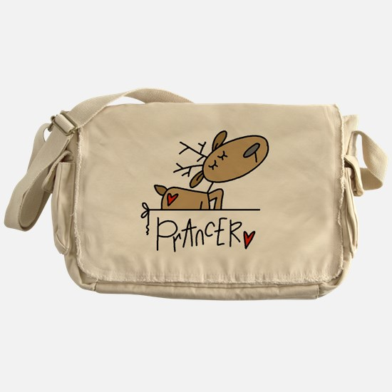 Prancer Reindeer Messenger Bag