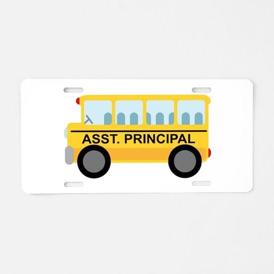 Assistant Principal School Bus Aluminum License Pl