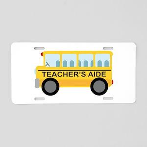 Teacher's Aide School Bus Aluminum License Plate