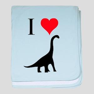 I Love Dinosaurs - Brachiosau baby blanket