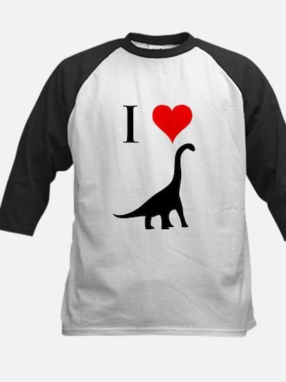 I Love Dinosaurs - Brachiosau Kids Baseball Jersey