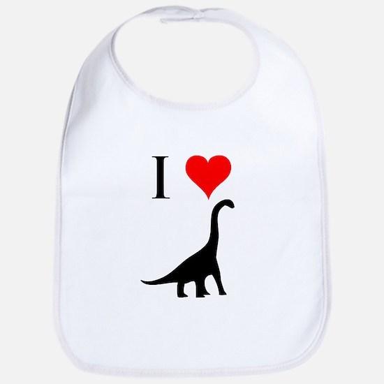 I Love Dinosaurs - Brachiosau Bib