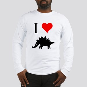 I Love Dinosaurs - Stegosauru Long Sleeve T-Shirt