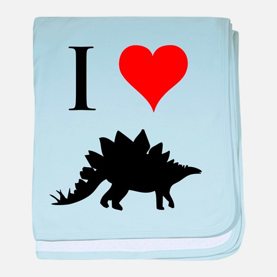I Love Dinosaurs - Stegosauru baby blanket