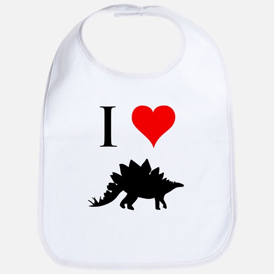 I Love Dinosaurs - Stegosauru Bib