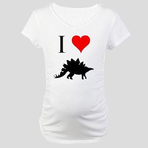 I Love Dinosaurs - Stegosauru Maternity T-Shirt