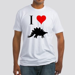 I Love Dinosaurs - Stegosauru Fitted T-Shirt