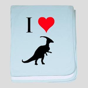 I Love Dinosaurs - Parasaurol baby blanket