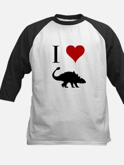 I Love Dinosaurs - Ankylosaur Kids Baseball Jersey
