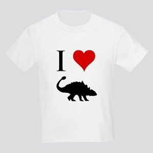 I Love Dinosaurs - Ankylosaur Kids Light T-Shirt