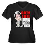 Go to jail Women's Plus Size V-Neck Dark T-Shirt