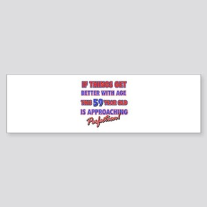 Funny 59th Birthdy designs Sticker (Bumper)