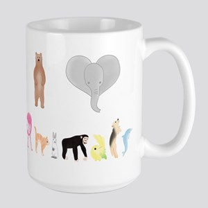 I love Animals colour Large Mug