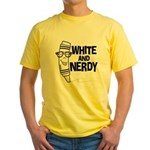 White And Nerdy Yellow T-Shirt