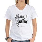 White And Nerdy Women's V-Neck T-Shirt