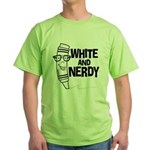 White And Nerdy Green T-Shirt