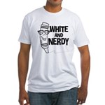 White And Nerdy Fitted T-Shirt