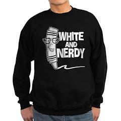 White And Nerdy Sweatshirt (dark)