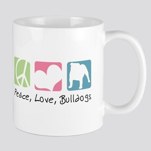 Peace, Love, Bulldogs Mug