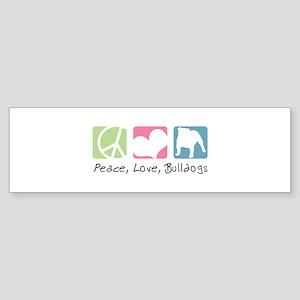 Peace, Love, Bulldogs Sticker (Bumper)