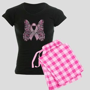 Pink Butterfly Hope Women's Dark Pajamas