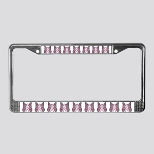 Pink Butterfly Hope License Plate Frame