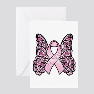 Pink Butterfly Hope Greeting Card