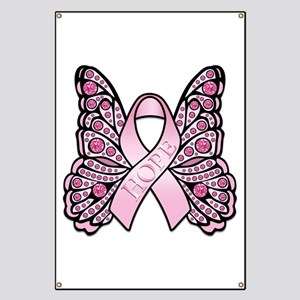 Pink Butterfly Hope Banner