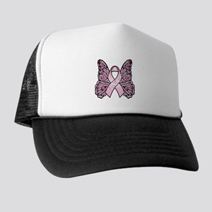 Pink Butterfly Hope Trucker Hat