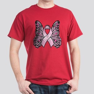 Pink Butterfly Hope Dark T-Shirt