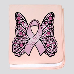Pink Butterfly Hope baby blanket