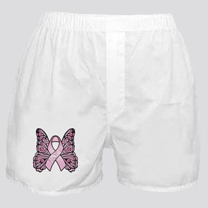 Pink Butterfly Hope Boxer Shorts