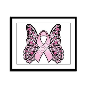 Pink Butterfly Hope Framed Panel Print
