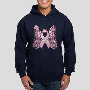 Pink Butterfly Hope Hoodie (dark)