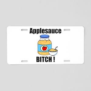 Applesauce Bitch Aluminum License Plate