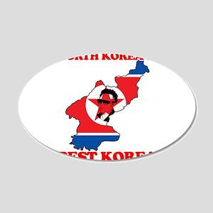 North Korea is Best Korea 22x14 Oval Wall Peel