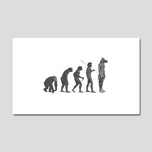 Evolution - Lost statue Car Magnet 20 x 12