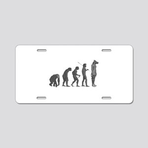 Evolution - Lost statue Aluminum License Plate