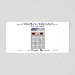 minesweeper championship Aluminum License Plate