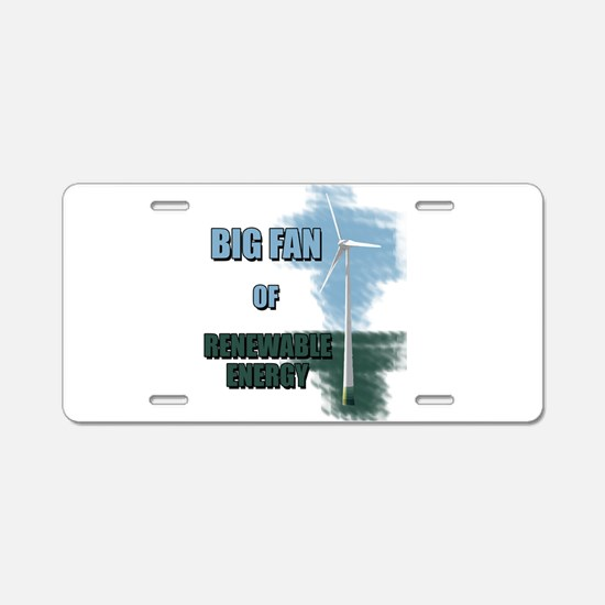 Big fan Aluminum License Plate