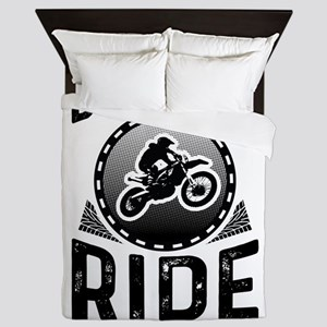 Born To Ride Forced To Work Queen Duvet