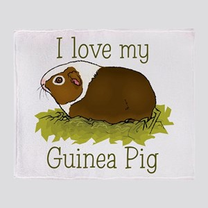 I Love my Guinea Pig Throw Blanket