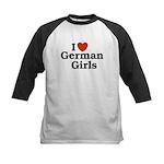 I loves German Girls Kids Baseball Jersey